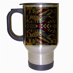 Multicolor Abstract Travel Mug (silver Gray) by dflcprintsclothing