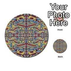 Multicolor Abstract Multi Purpose Cards (round)  by dflcprintsclothing