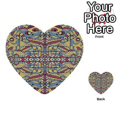 Multicolor Abstract Multi Purpose Cards (heart)  by dflcprintsclothing