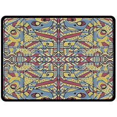 Multicolor Abstract Fleece Blanket (large)  by dflcprintsclothing