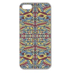Multicolor Abstract Apple Seamless Iphone 5 Case (clear) by dflcprintsclothing