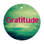 GratitudeCloud - Ornament (Round)