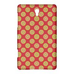 Mod Yellow Circles On Orange Samsung Galaxy Tab S (8 4 ) Hardshell Case  by BrightVibesDesign