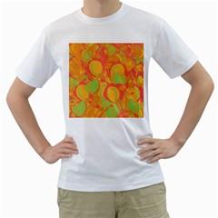 Orange Garden Men s T Shirt (white) (two Sided) by Valentinaart