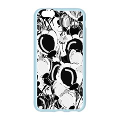 Black and white garden Apple Seamless iPhone 6/6S Case (Color) by Valentinaart