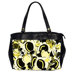 Yellow Abstract Garden Office Handbags (2 Sides)  by Valentinaart