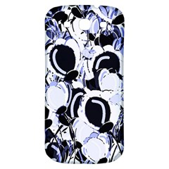 Blue Abstract Floral Design Samsung Galaxy S3 S Iii Classic Hardshell Back Case by Valentinaart