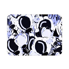 Blue Abstract Floral Design Double Sided Flano Blanket (mini)  by Valentinaart