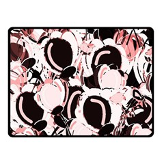 Pink Abstract Garden Fleece Blanket (small) by Valentinaart