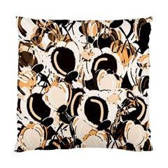 Orange Abstract Garden Standard Cushion Case (one Side) by Valentinaart