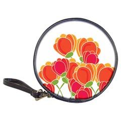 Orange Flowers  Classic 20 Cd Wallets by Valentinaart