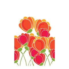 Orange Flowers  Shower Curtain 48  X 72  (small)  by Valentinaart