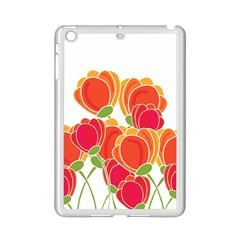 Orange Flowers  Ipad Mini 2 Enamel Coated Cases by Valentinaart