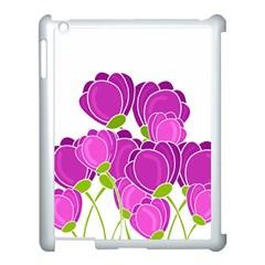 Purple Flowers Apple Ipad 3/4 Case (white) by Valentinaart