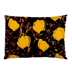 Yellow Roses  Pillow Case (two Sides) by Valentinaart