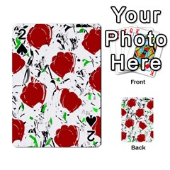 Red Roses 2 Playing Cards 54 Designs  by Valentinaart