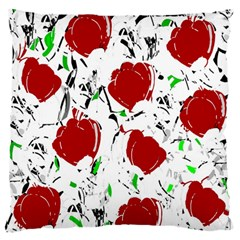 Red Roses 2 Large Flano Cushion Case (one Side) by Valentinaart