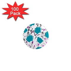 Cyan Roses 1  Mini Magnets (100 Pack)  by Valentinaart
