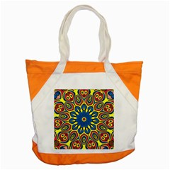 Yellow Flower Mandala Accent Tote Bag by designworld65