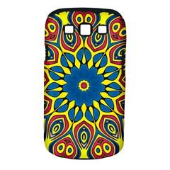 Yellow Flower Mandala Samsung Galaxy S Iii Classic Hardshell Case (pc+silicone) by designworld65