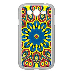 Yellow Flower Mandala Samsung Galaxy Grand Duos I9082 Case (white) by designworld65