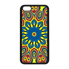 Yellow Flower Mandala Apple Iphone 5c Seamless Case (black) by designworld65