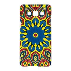 Yellow Flower Mandala Samsung Galaxy A5 Hardshell Case  by designworld65