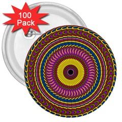 Ornament Mandala 3  Buttons (100 Pack)  by designworld65