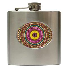 Ornament Mandala Hip Flask (6 Oz) by designworld65