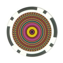 Ornament Mandala Poker Chip Card Guards (10 Pack)  by designworld65