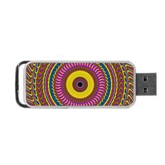 Ornament Mandala Portable Usb Flash (two Sides) by designworld65
