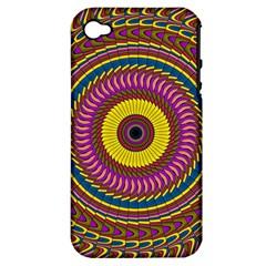 Ornament Mandala Apple Iphone 4/4s Hardshell Case (pc+silicone) by designworld65