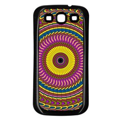 Ornament Mandala Samsung Galaxy S3 Back Case (black) by designworld65