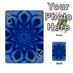 Blue Blossom Mandala Playing Cards 54 Designs  by designworld65