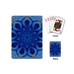 Blue Blossom Mandala Playing Cards (mini)  by designworld65