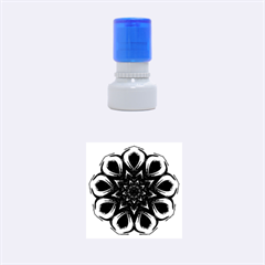 Blue Blossom Mandala Rubber Round Stamps (small) by designworld65
