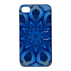 Blue Blossom Mandala Apple Iphone 4/4s Hardshell Case With Stand by designworld65