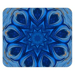 Blue Blossom Mandala Double Sided Flano Blanket (small)  by designworld65