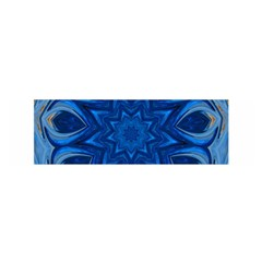 Blue Blossom Mandala Satin Scarf (oblong) by designworld65