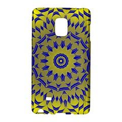 Yellow Blue Gold Mandala Galaxy Note Edge by designworld65