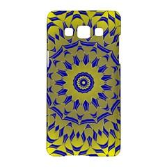 Yellow Blue Gold Mandala Samsung Galaxy A5 Hardshell Case  by designworld65