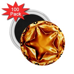 Elegant Gold Copper Shiny Elegant Christmas Star 2 25  Magnets (100 Pack)  by yoursparklingshop