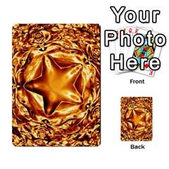 Elegant Gold Copper Shiny Elegant Christmas Star Multi Purpose Cards (rectangle)  by yoursparklingshop
