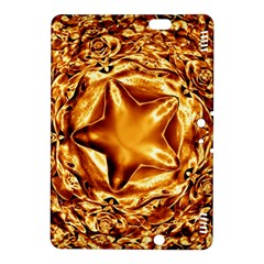 Elegant Gold Copper Shiny Elegant Christmas Star Kindle Fire Hdx 8 9  Hardshell Case by yoursparklingshop