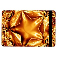 Elegant Gold Copper Shiny Elegant Christmas Star Ipad Air Flip by yoursparklingshop