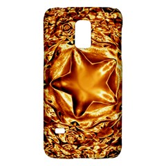 Elegant Gold Copper Shiny Elegant Christmas Star Galaxy S5 Mini by yoursparklingshop