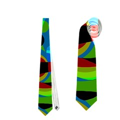 Colorful Smoothie  Neckties (two Side)  by Valentinaart