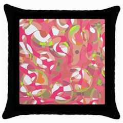 Pink Smoothie  Throw Pillow Case (black) by Valentinaart