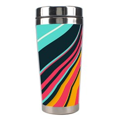 Bent Waves                                                                                                        Stainless Steel Travel Tumbler by LalyLauraFLM