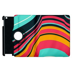 Bent Waves                                                                                                       			apple Ipad 2 Flip 360 Case by LalyLauraFLM